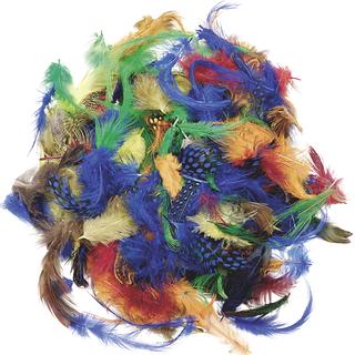 Deco Feather Mix 1.5 - 10 cm assorted colour