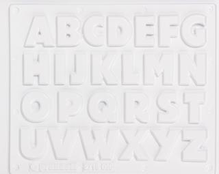 """Gießform """"Buchstaben (A-Z)"""