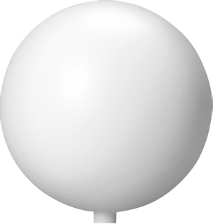 Kugel Ø 12 cm weiß