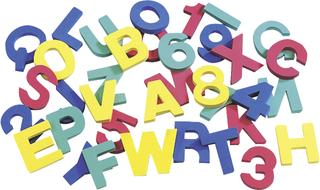 """Moosgummistempel """"Buchstaben und Zahlen"""" ca. 6 - 7 c"""