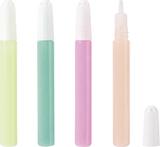 Night-Pen transparent, pink, light blue, light green