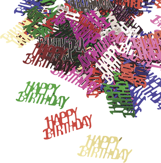 "Aluflitter ""Happy Birthday"" ca. 2 - 3 mm multicolo"