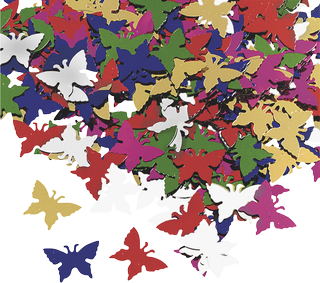 "Aluminium Glitter ""Butterflies"" approx. 1 - 2 cm assorted colours"