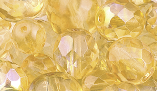 Faceted Glass Bead Assortment yello