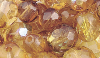Faceted Glass Bead Assortment topaz/brow