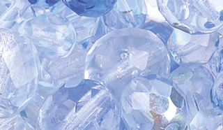 Faceted Glass Bead Assortment blu