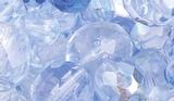 Faceted Glass Bead Assortment blu