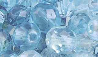 Glasschliffperlen-Mix türkis