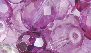 Faceted Glass Bead Assortment viole