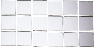 Mirror Mosaic 1.5 x 1.5 x 2 cm silver-coloured