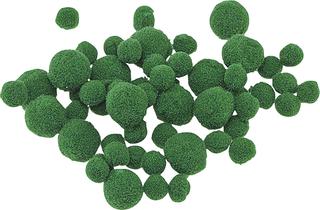Pompons Ø 8 - 20 mm grün