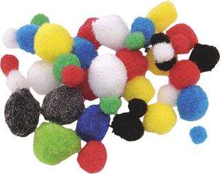 Pompons Ø 8 - 20 mm assorted colours