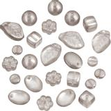 Glass Bead Assortment, semi-transparent grey