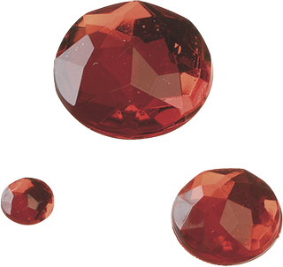 Gem Stone Assortment Ø 6, 12, 18 mm red