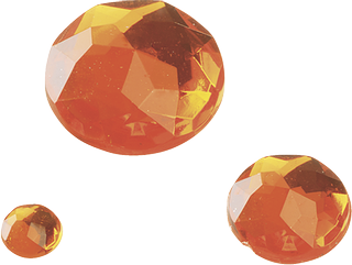 Gem Stone Assortment Ø 6, 12, 18 mm orange