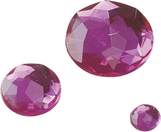 Gem Stone Assortment Ø 6, 12, 18 mm pink
