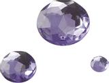 Gem Stone Assortment Ø 6, 12, 18 mm lila