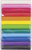 Assortment of Modelling Clay for Children white, pink, medium red, light red, orange, sun yellow, m