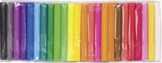 Kinderknete-Set weiß, zitronengelb, rosa, tulpenrot, mittelrot, hellrot, mittelbraun, mandarine,