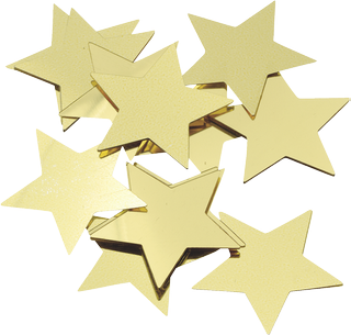 "Aluminium Glitter ""Stars"" Ø 30 mm gold-coloure"