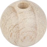 Untreated Wooden Ball Ø 12 mm raw, waxe