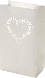 "Luminary Bag ""Large heart"" 26.5 x 15.5 x 9 c"