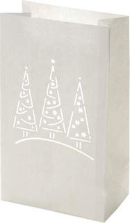 """Lichttüte """"Weihnachtsbäume"""" 26,5 x 15,5 x 9 c"""