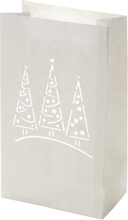 "Luminary Bag ""Christmas trees"" 26.5 x 15.5 x 9 c"