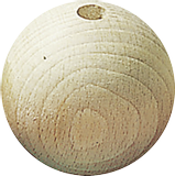 Untreated Wooden Ball Ø 18 mm raw, waxe