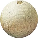 Untreated Wooden Ball Ø 25 mm raw, waxe