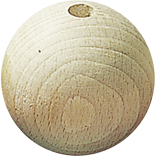 Untreated Wooden Ball Ø 35 mm raw, waxed
