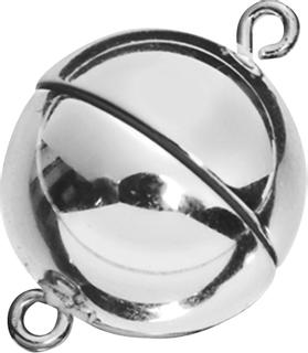 Magnetverschluss Ø 12 mm silberfarben glänzen