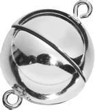 Magnetic Clasp Ø 12 mm silver, shin