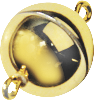 Magnetic Clasp Ø 12 mm gold-coloured, shiny