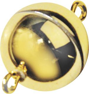 Magnetverschluss Ø 12 mm goldfarben glänzen