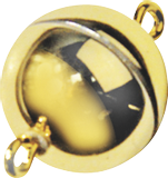 Magnetic Clasp Ø 12 mm gold-coloured, shin