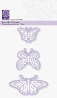"""Stanzschablone """"Butterflies"""" 45, 48, 76 m"""