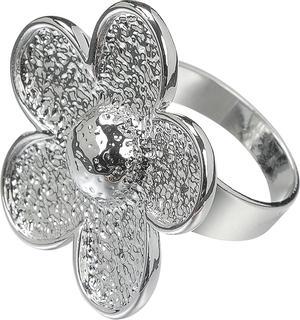 """DeCoRe Ring """"Blume"""" DeCoRe silberfarbe"""