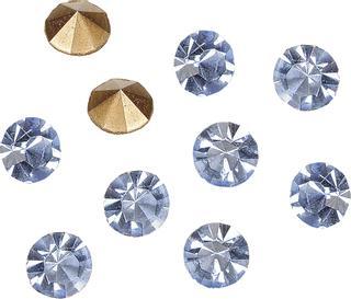 Strasssteine Ø ca. 3 - 3,2 mm light sapphir