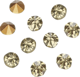 Rhinestones, conical Size: SS 12 approx. Ø 3.0 - 3.2 mm black diamond