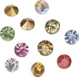 Rhinestones, conical Size: SS 16 approx. Ø 3.8 - 4.0 mm Assortment of 9 colours