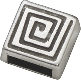 "Slide-On Piece ""Spiral, silver-coloured"" 9 x 9 mm silver-coloure"