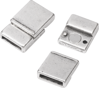 "Magnetic Clasp ""Rectangle"" 13 x 20 mm silver-coloured"