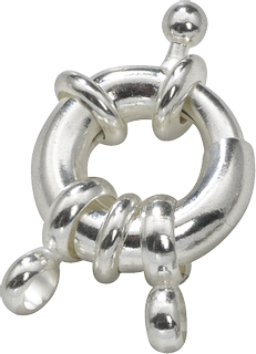Ring fastener 15 mm silver-coloured