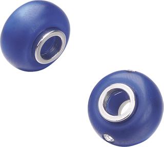 Polaris Großlochperlen-Mix Ø 14 mm dunkelblau