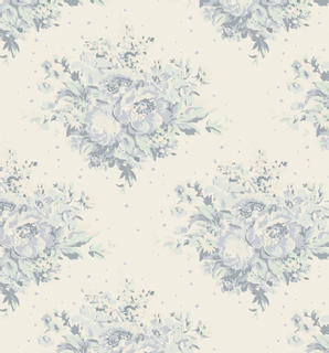 Tilda Stoff Summer Floral Painting Flowers 5 x 1,10 m blau-grü