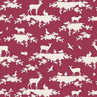 1 x 1.10 m carmine red patterns