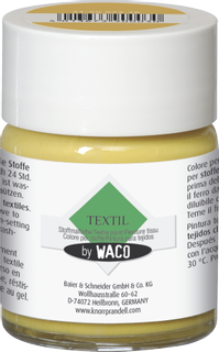 Textile Paint for light-coloured textiles by WACO golden yellow