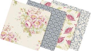 "Tilda Stoff-Mix Charmpack ""20 verschiedene Muster"" Painting Flowers 12 ,5 x 12,5 c"