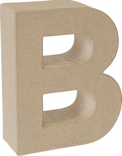 "Papp-Buchstabe 3D ""B"" 17,5 x 14,6 x 5,5 cm natu"